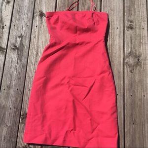 Ann Taylor coral strapless dress